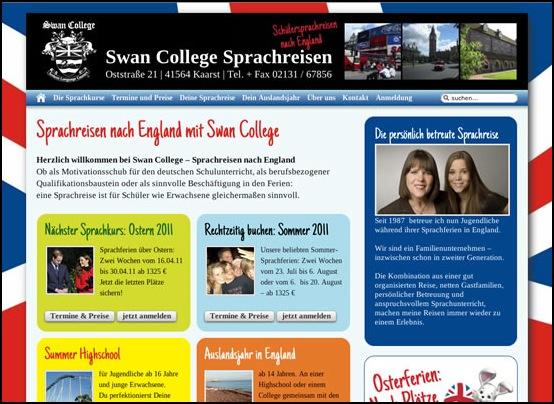 swan college lws webdesign wir bringen sie in 39 s netz professionelle webseiten und webshops. Black Bedroom Furniture Sets. Home Design Ideas